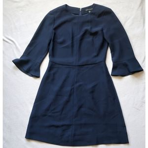 Banana Republic Fit Flare Navy Dress, 00Petite